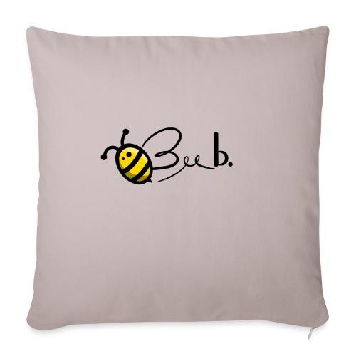 Bee b. Logo - Sofa pillowcase 17,3'' x 17,3'' (45 x 45 cm)
