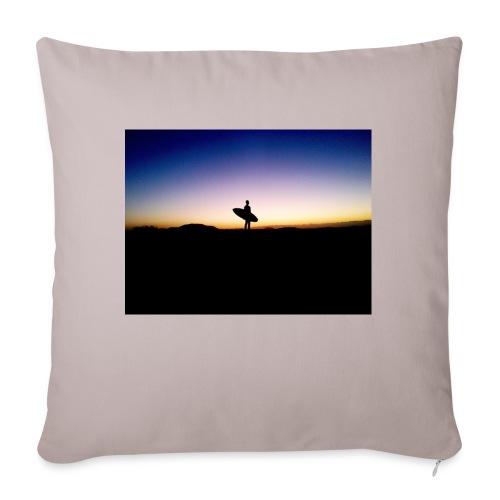 Surfer Sunset Silhouette - Sofa pillowcase 17,3'' x 17,3'' (45 x 45 cm)