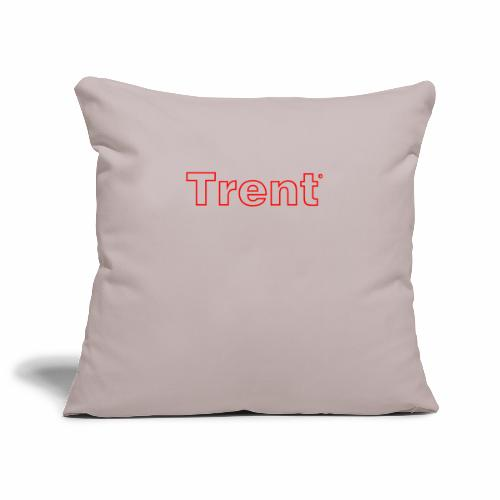 TRENT classic red - Sofa pillowcase 17,3'' x 17,3'' (45 x 45 cm)