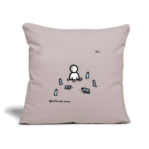white man nel mare di plastica - Copricuscino per divano, 45 x 45 cm