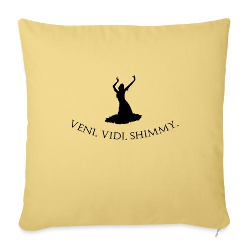 Veni Vidi Shimmy Black - Sofa pillowcase 17,3'' x 17,3'' (45 x 45 cm)
