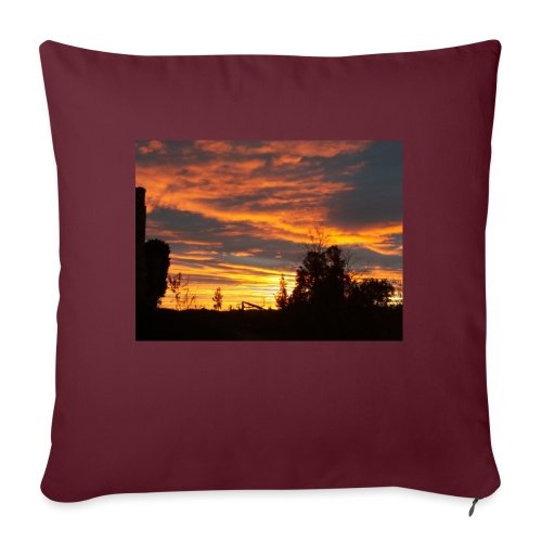 Tramonto rosso - Copricuscino per divano, 45 x 45 cm