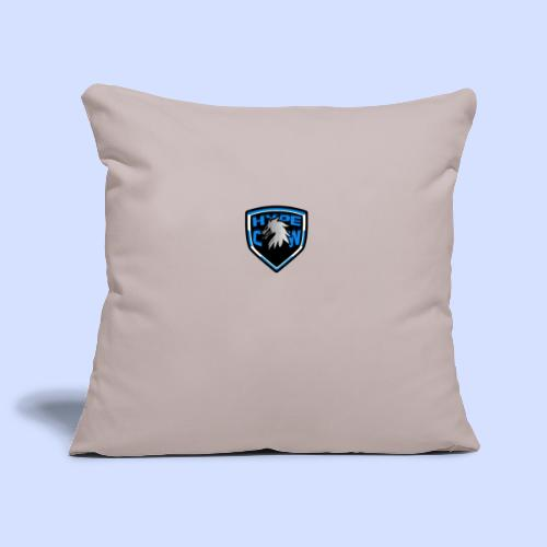 HypeCw logo (Silver) - Sofa pillowcase 17,3'' x 17,3'' (45 x 45 cm)