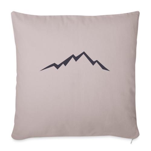 swiss alps clipart sihllouette ski mountains - Sierkussenhoes, 45 x 45 cm