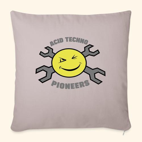 ACID TECHNO PIONEERS - SILVER EDITION - Sofa pillowcase 17,3'' x 17,3'' (45 x 45 cm)