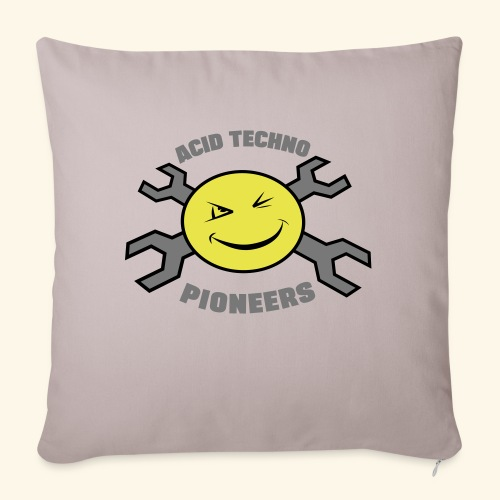 ACID TECHNO PIONEERS - SILVER EDITION - Sofa pillowcase 17,3'' x 17,3'' (45 x 45 cm)
