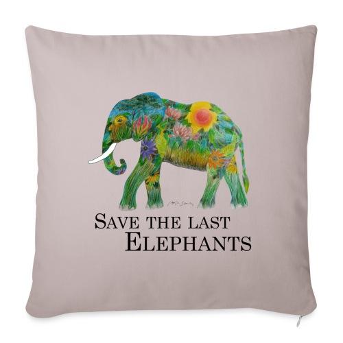 Save The Last Elephants - Sofakissenbezug 44 x 44 cm
