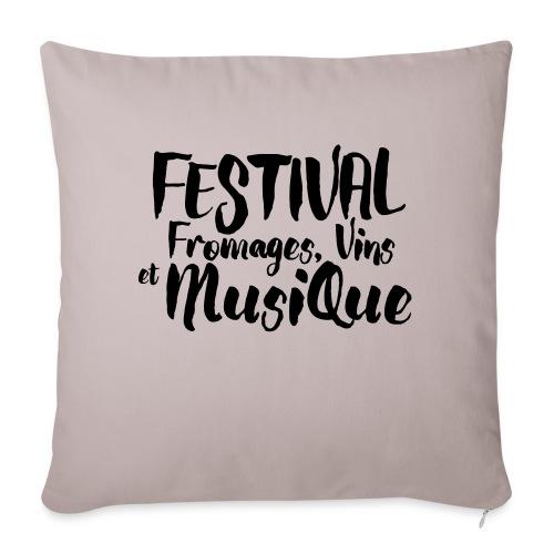 Festival Fromages, Vins et Musique - Housse de coussin décorative 45x 45cm