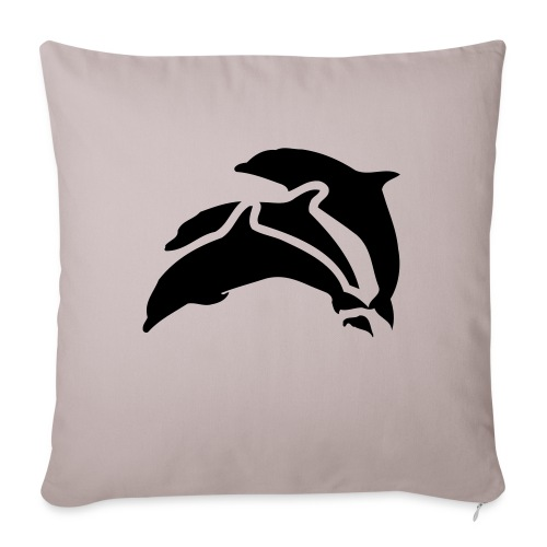 drei delfine - Sofakissenbezug 44 x 44 cm