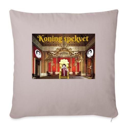Koning Spekvet - Sierkussenhoes, 45 x 45 cm