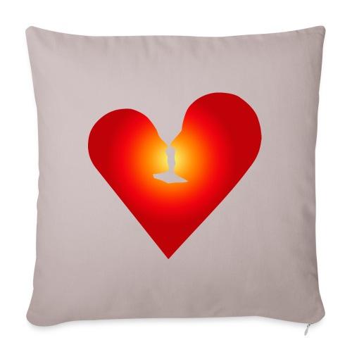 Ein Herz in Liebe - Sofakissenbezug 44 x 44 cm