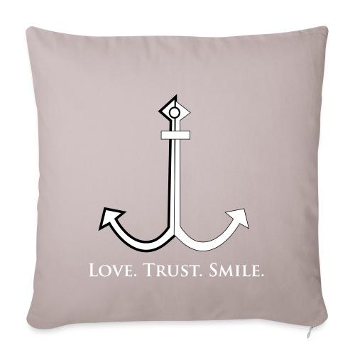 Love Trust Smile - Sofakissenbezug 44 x 44 cm