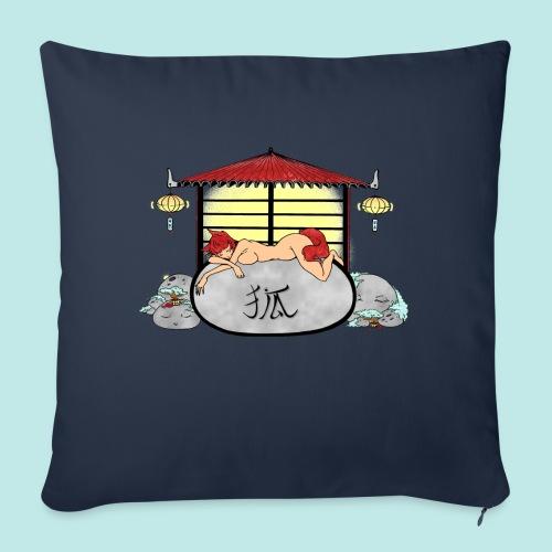 Déesse renard Inari jardin zen temple japonais - Housse de coussin décorative 45x 45cm
