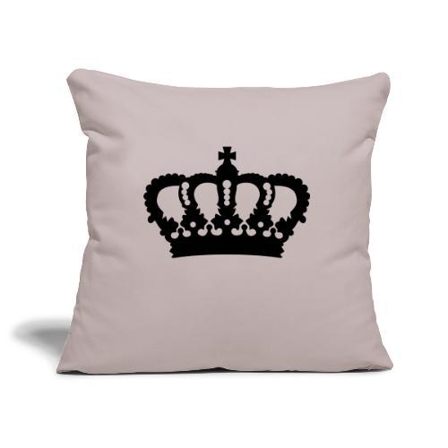 Krone König Königin Prinz Prinzessin Royal - Sofakissenbezug 44 x 44 cm