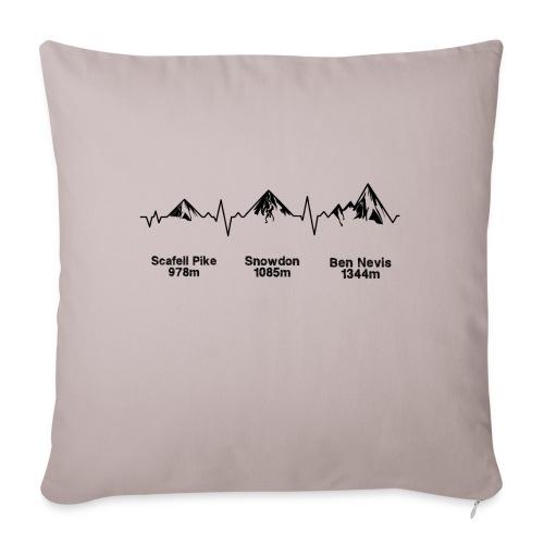 ECG Thee Peaks Light Background - Sofa pillowcase 17,3'' x 17,3'' (45 x 45 cm)