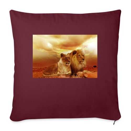 Löwen Lions - Sofakissenbezug 44 x 44 cm