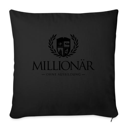 Millionär ohne Ausbildung Shirt - Sofakissenbezug 44 x 44 cm