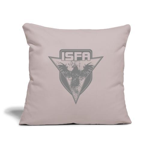 isfa logo 1c grau - Sofakissenbezug 44 x 44 cm