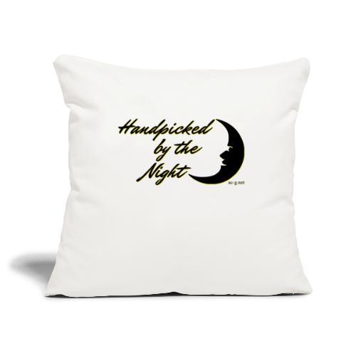 Handpicked design By The Night - Logo Black - Sofa pillowcase 17,3'' x 17,3'' (45 x 45 cm)