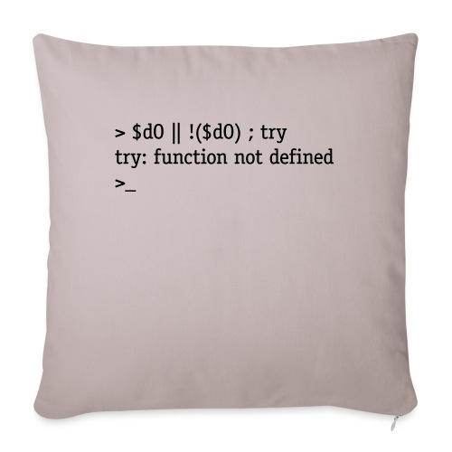 Do or do not. There is no try. - Sofa pillowcase 17,3'' x 17,3'' (45 x 45 cm)