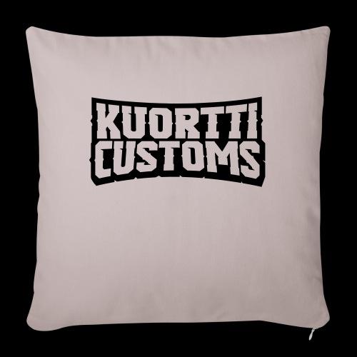 kuortti_customs_logo_main - Sohvatyynyn päällinen 45 x 45 cm