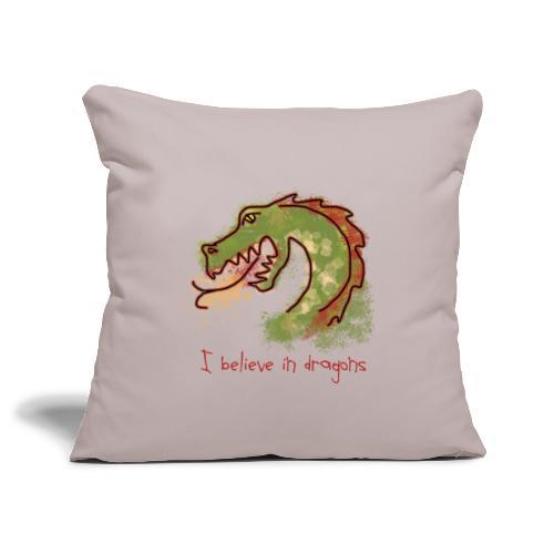 I believe in dragons - Sofa pillowcase 17,3'' x 17,3'' (45 x 45 cm)