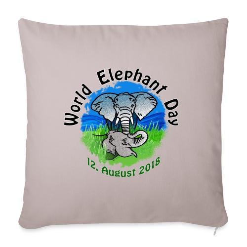 World Elephant Day 2018 - Sofakissenbezug 44 x 44 cm
