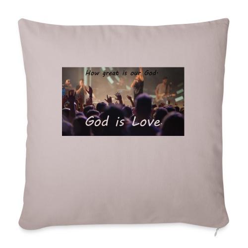 GOD is LOVE. - Sofakissenbezug 44 x 44 cm