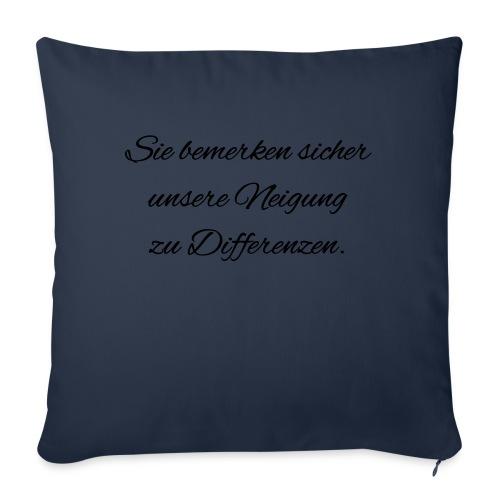 Differenzen Unstimmigkeit - Seven of Nine Spruch - Sofakissenbezug 44 x 44 cm