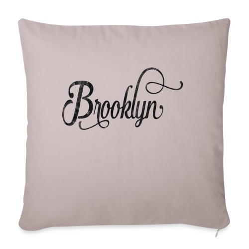 Brooklyn typography vintage - Sofa pillowcase 17,3'' x 17,3'' (45 x 45 cm)