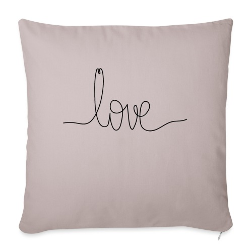 Logo Love au Trait - Housse de coussin décorative 45x 45cm