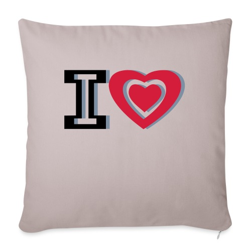 I LOVE I HEART - Sofa pillowcase 17,3'' x 17,3'' (45 x 45 cm)
