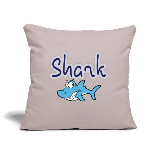 Cartoon Shark - Sierkussenhoes, 45 x 45 cm