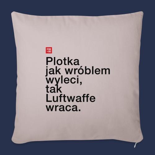 PLOTKA - napis ciemny - Poszewka na poduszkę 45 x 45 cm