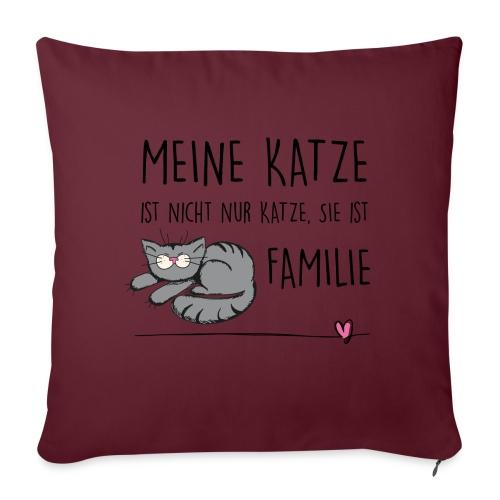 Vorschau: Meine Katze ist Familie - Sofakissenbezug 44 x 44 cm