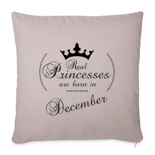 Real Princesses black December - Sofakissenbezug 44 x 44 cm