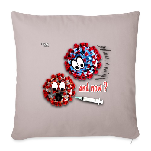 The vaccine ... and now? - Sofa pillowcase 17,3'' x 17,3'' (45 x 45 cm)