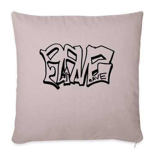 Rave graffiti - Sofa pillowcase 17,3'' x 17,3'' (45 x 45 cm)