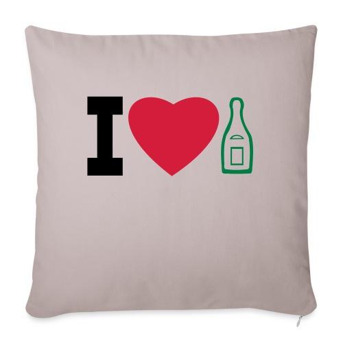 i love champagne - Sofa pillowcase 17,3'' x 17,3'' (45 x 45 cm)