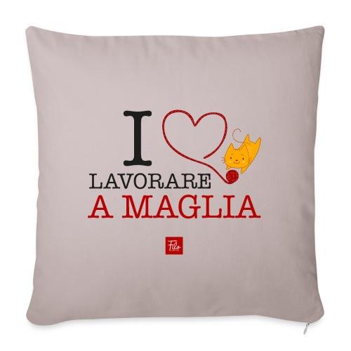 I love lavorare a maglia - Copricuscino per divano, 45 x 45 cm