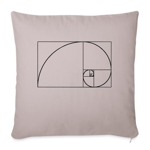 Fibonacci, Phi, Goldene Schnitt, Spirale, Rechteck - Sofakissenbezug 44 x 44 cm