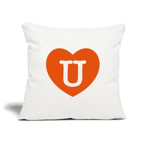 LOVE- U Heart - Sofa pillowcase 17,3'' x 17,3'' (45 x 45 cm)