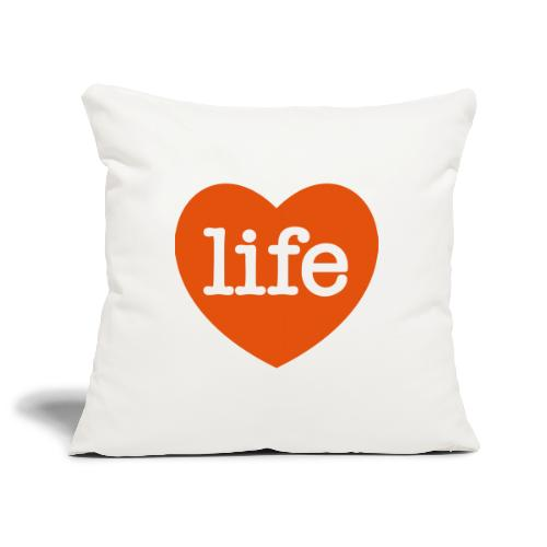 LOVE LIFE heart - Sofa pillowcase 17,3'' x 17,3'' (45 x 45 cm)