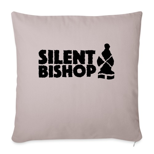 Silent Bishop Logo Groot - Sierkussenhoes, 45 x 45 cm