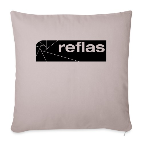 Reflas Clothing Black/Gray - Copricuscino per divano, 45 x 45 cm