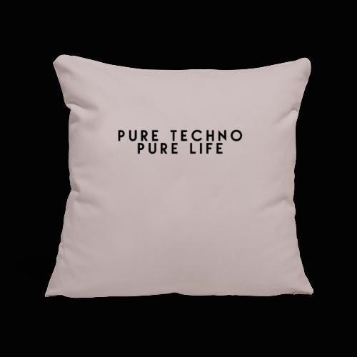 Pure Techno Pure Life Black - Sofakissenbezug 44 x 44 cm