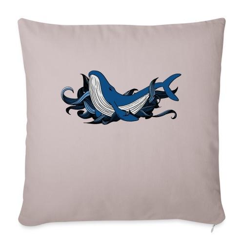 Doodle ink Whale - Copricuscino per divano, 45 x 45 cm