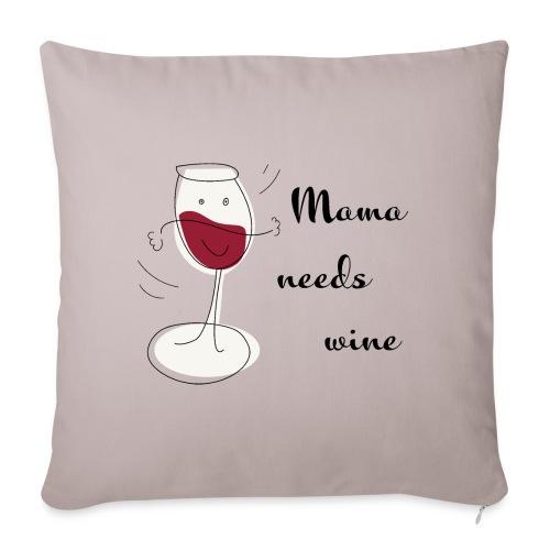 mama needs wine kussen en tas - Sierkussenhoes, 45 x 45 cm