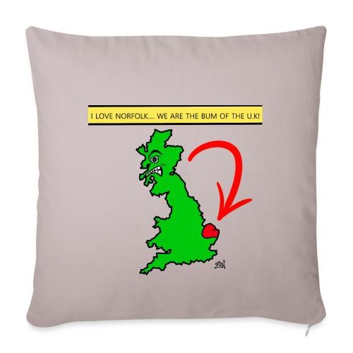 I Love Norfolk - Sofa pillowcase 17,3'' x 17,3'' (45 x 45 cm)