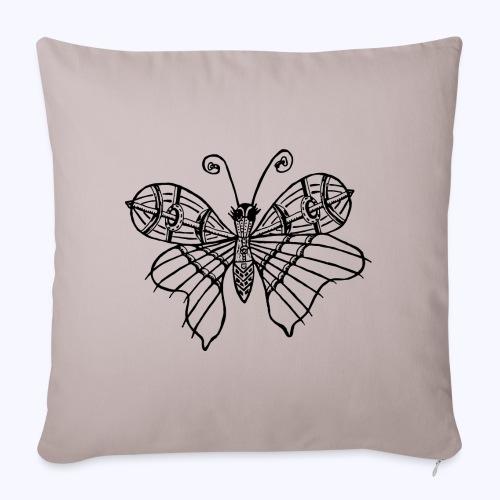 Schmetterling schwarz - Sofakissenbezug 44 x 44 cm